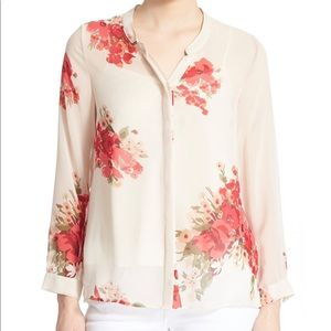Joie Devitri Silk Floral Button Down Blouse